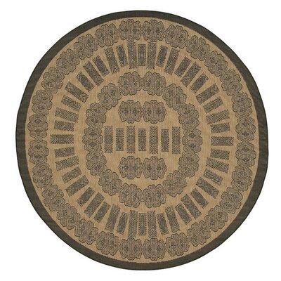 Recife Tamworth Black/cocoa Indoor/outdoor Area Rug Rug Size: Round 8
