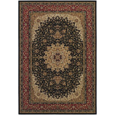 Belcourt Black/Brown Area Rug Rug Size: 9'2