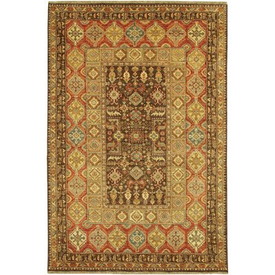 Lahore Marasali Hand-knotted Wool Brown Area Rug
