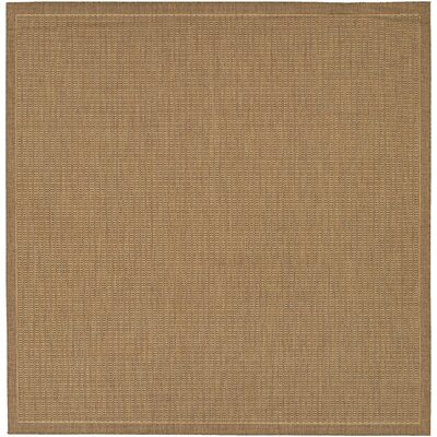 Westlund Saddle Stitch Cocoa Indoor/Outdoor Area Rug Rug Size: Square 86