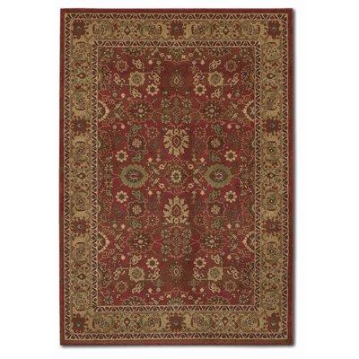 Pera All Over Mashhad Crimson/fawn Area Rug Rug Size: Rectangle 9