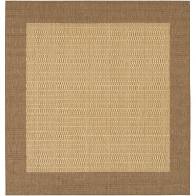 Klaus Checkered Field Brown Indoor/Outdoor Area Rug Rug Size: Square 86