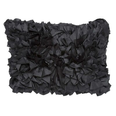 Marie Lumbar Pillow Color: Black