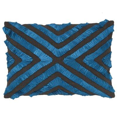 Andrea Natural Lumbar Pillow Color: Blue