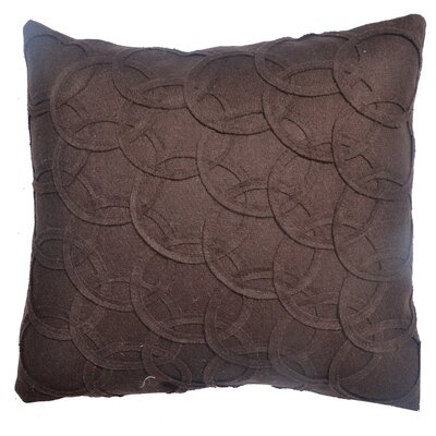 Circles Felt Throw Pillow