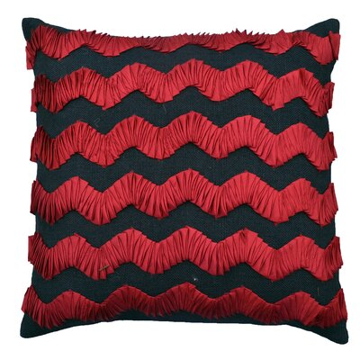Palmyra Natural Throw Pillow Color: Red