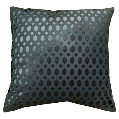 Cleo Velvet Throw Pillow Color: Charcoal