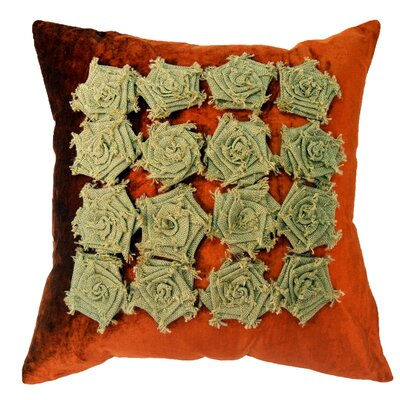 Amy Velvet Throw Pillow Color: Orange