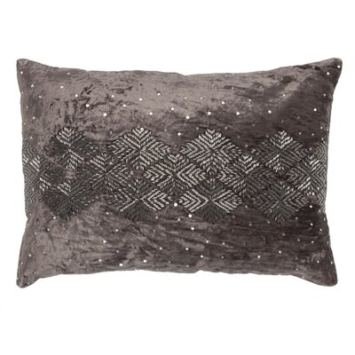 Mila Velvet Lumbar Pillow Color: Gray