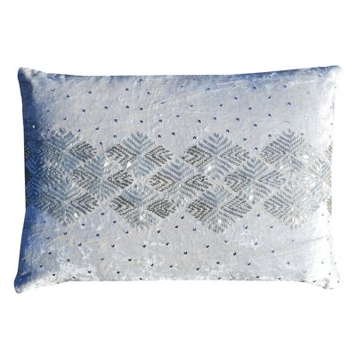 Mila Velvet Lumbar Pillow Color: Ivory
