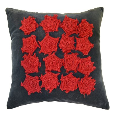 Amy Velvet Throw Pillow Color: Red