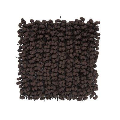 Pom Pom Throw Pillow Color: Chocolate