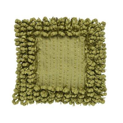 Pom Pom Throw Pillow Color: Lime