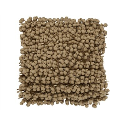 Pom Pom Throw Pillow Color: Beige