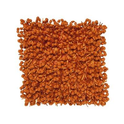 Pom Pom Throw Pillow Color: Orange
