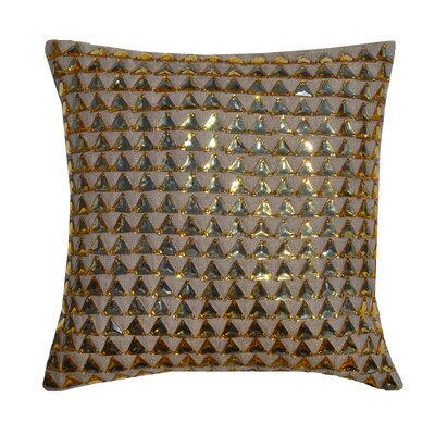 Aiko Throw Pillow Color: Gold