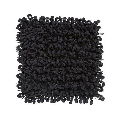 Pom Pom Throw Pillow Color: Black