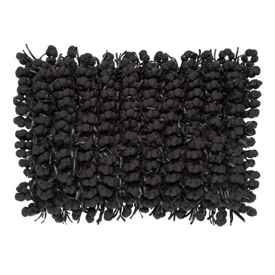 Pom Pom Lumbar Pillow Color: Charcoal