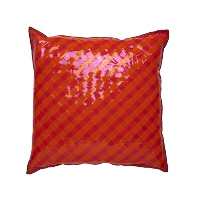Vinyl Accent Throw Pillow Color: Pink / Orange