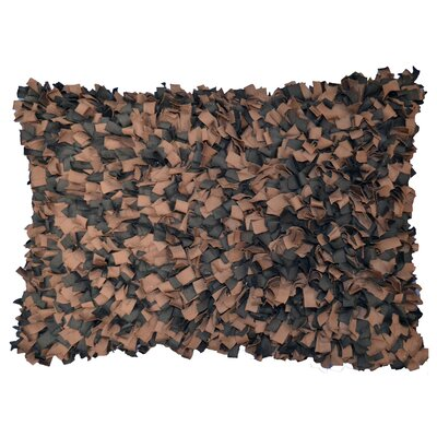 Shaggy Accent Lumbar Pillow Color: Chocolate