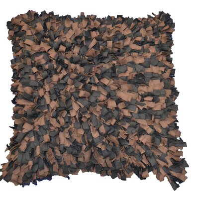 Shaggy Accent Throw Pillow Color: Chocolate
