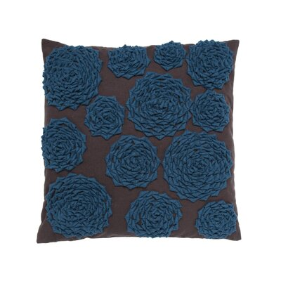 Felt Circle Throw Pillow Color: Blue