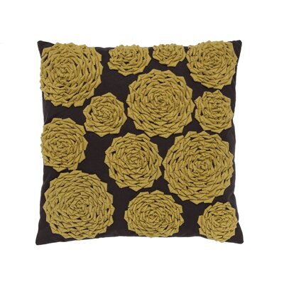 Felt Circle Throw Pillow Color: Yellow