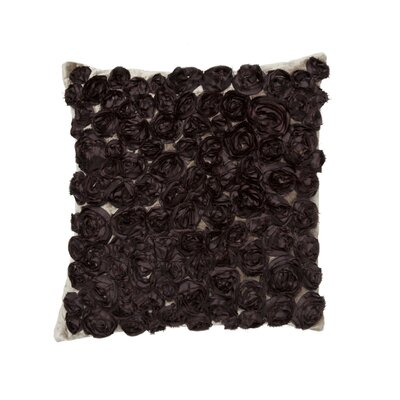 Silk Roses Throw Pillow Color: Chocolate