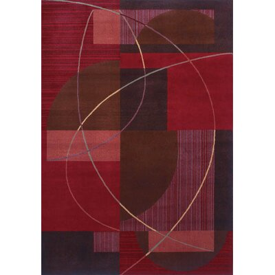 Inspired Design Mojo Red Contemporary Rug