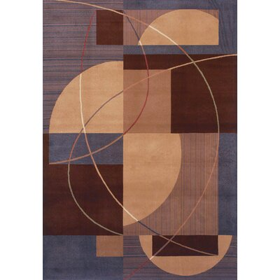 Inspired Design Mojo Brown/Purple Rug