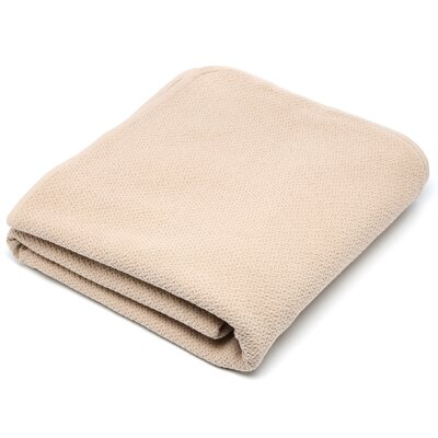 Honeycomb Cotton Throw / Blanket Color: Ivory, Size: Queen (90 x 92)