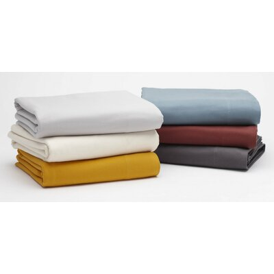 Cloud Brushed Flannel 100% Cotton Flat Sheet Size: Twin, Color: Natural
