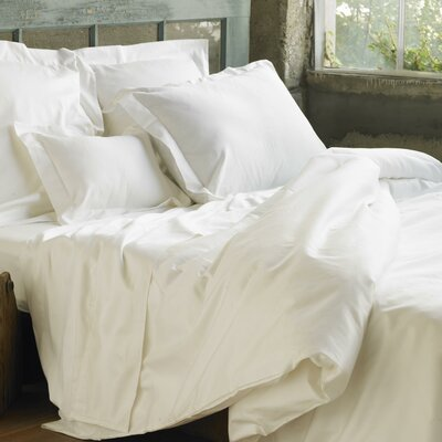 Sateen Duvet Cover Color: White, Size: Twin