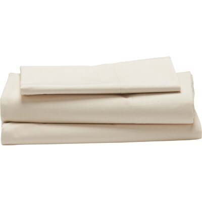 Sateen 300 Thread Count 100% Cotton Sheet Set Color: Natural, Size: Twin