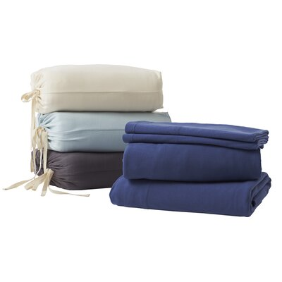 Jersey 4 Piece 100% Cotton Sheet Set Color: Natural