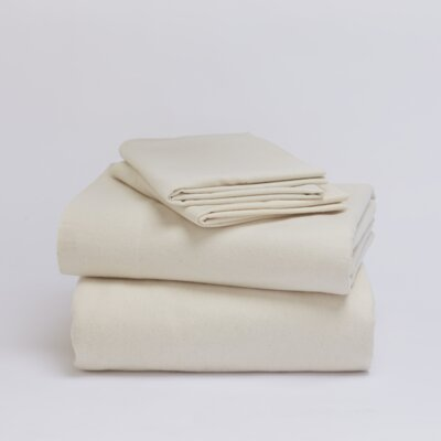 Cloud Brushed Flannel Sheet Set Color: Natural, Size: Full