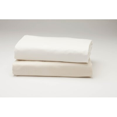 Percale Fitted 300 Thread Count 100% Cotton Sheet Size: King, Color: Natural