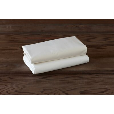 Percale 220 Thread Count Cotton Fitted Sheet Size: King, Color: Alpine White
