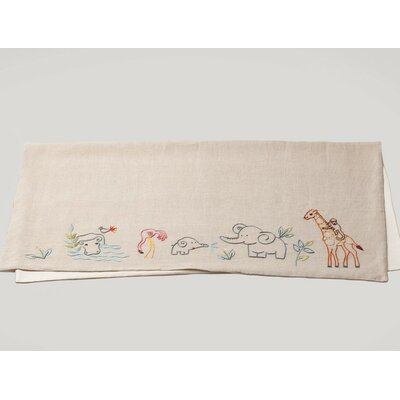 Critter Embroidered Receiving Blanket
