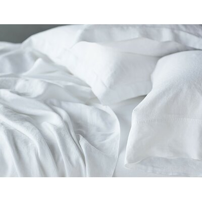Relaxed Linen Sham Size: Euro, Color: Alpine White