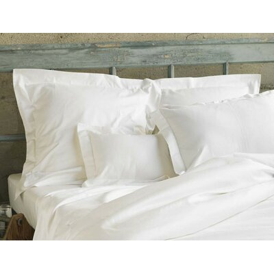 Sateen Sham Color: Alpine White, Size: Standard