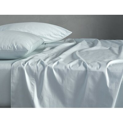 Sateen 300 Thread Count Cotton Sheet Set Size: Full, Color: Misty Ocean