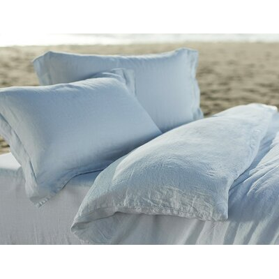 Relaxed Linen Pillowcase Size: Standard/Queen, Color: Misty Ocean