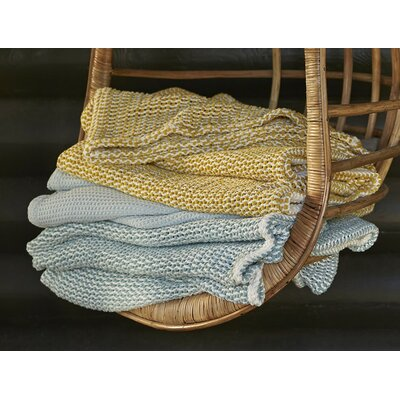 Chenille Chunky Weave Cotton Blanket Color: Natural