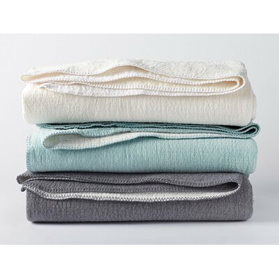 Cozy Cotton Blanket Color: Alpine White