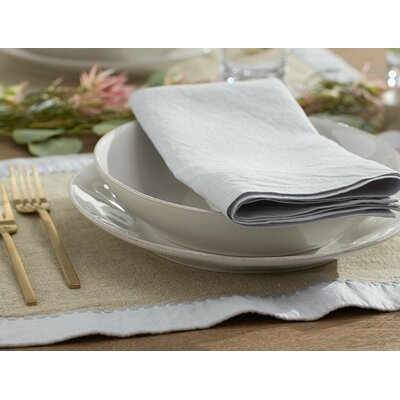 Simple Linen Placemat Color: Alpine White