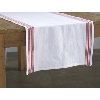 Farmhouse Stripe Runner Color: Crimson