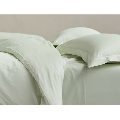 Sateen 300 Thread Count Cotton Sheet Set Size: Full, Color: Aloe