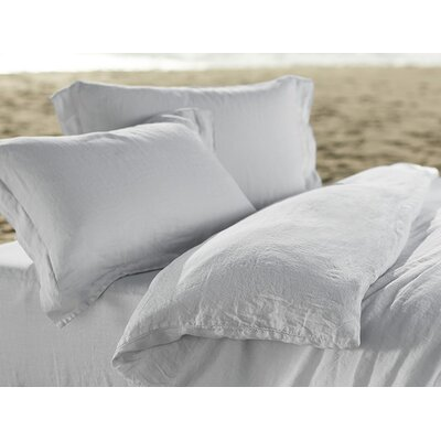 Relaxed Linen Pillowcase Size: King, Color: Fog