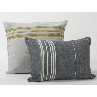 Rustic Linen Sham Size: Euro, Color: Pewter/Deep Slate/Alpine White